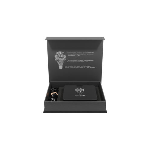 Base UV avec chargeur induction 10W pliable, logo lumineux