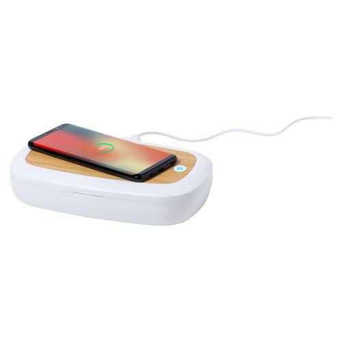 Boîte stérilisateur UV-C pour petits objets - avec chargeur induction bambou