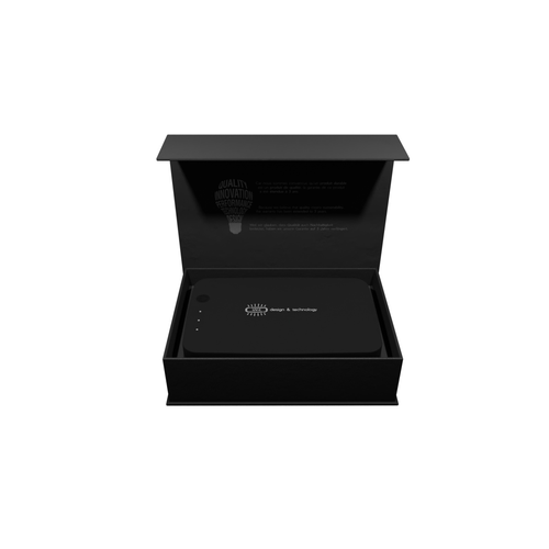 Boîte UV-C avec chargeur induction, logo lumineux