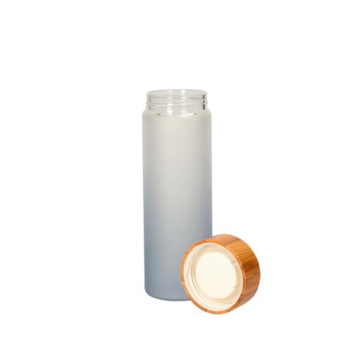 Bouteille en verre avec bouchon bambou 400ml