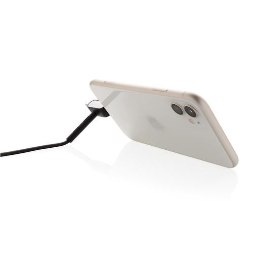 Câble 3 en 1  avec support de téléphone