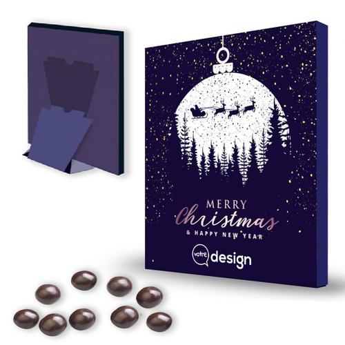 Calendrier de l'avent personnalisé 24 billes de chocolat