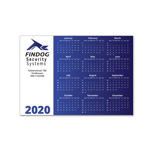 Calendrier magnet