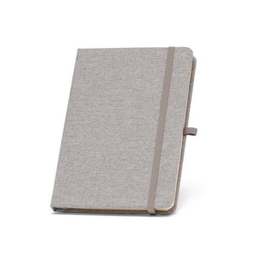 Carnet A5 BOYD en RPET - papier ivoire ligné