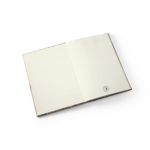 Carnet A5 NERUDA - couverture rigide en paille naturelle