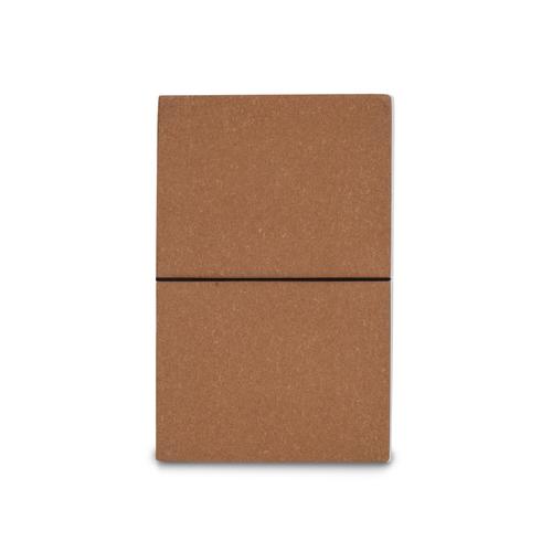 Carnet journal A5 en cuir recyclé - avec élastique