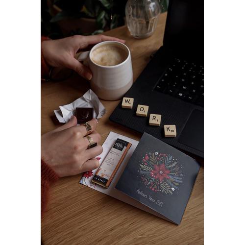 Carte de vœux avec barre de chocolat 10g