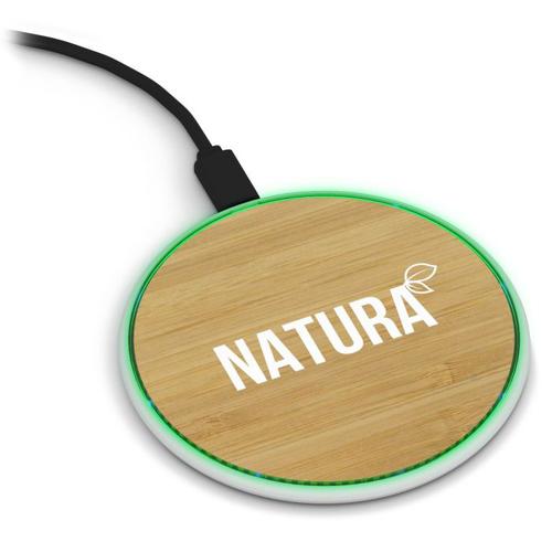 Chargeur à induction extra plat en bambou