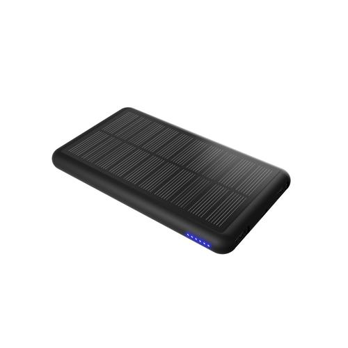 Chargeur solaire bi-matière 5000 mAh avec câble 3 en 1