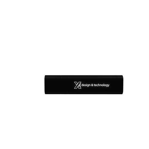 Clé USB 2 à 32 Go avec logo lumineux, finition soft touch