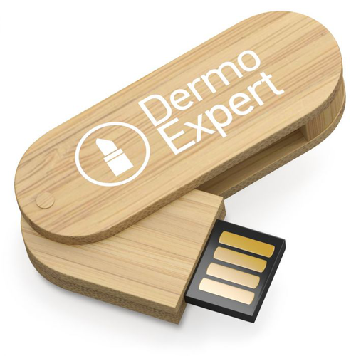 Clé USB pivotante 1-64GB en bambou MINI NATURA