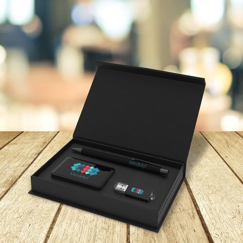 Coffret powerbank, USB et stylo MEDIUM