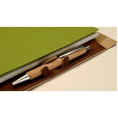 Conférencier A4 en cuir recyclé - 120 pages