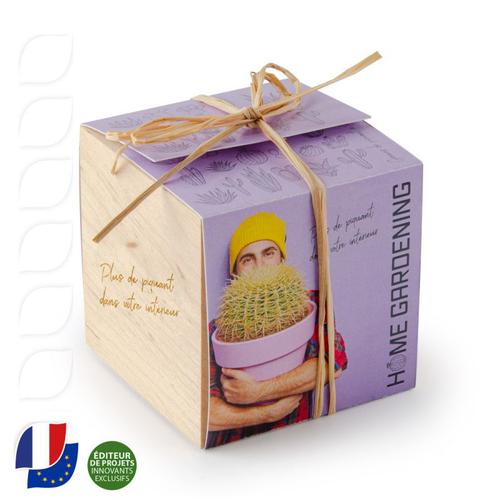 Ecocube en bois MADE IN France -  avec sachet de graines