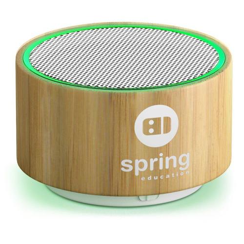 Enceinte bluetooth en bambou et plastique recyclé 3W