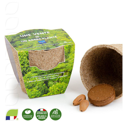 Kit de plantation avec pot en tourbe biodégradable