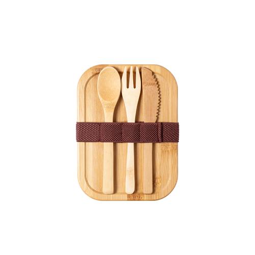 Lunch box en verre avec couvercle bambou - boite de conservation 500 ml