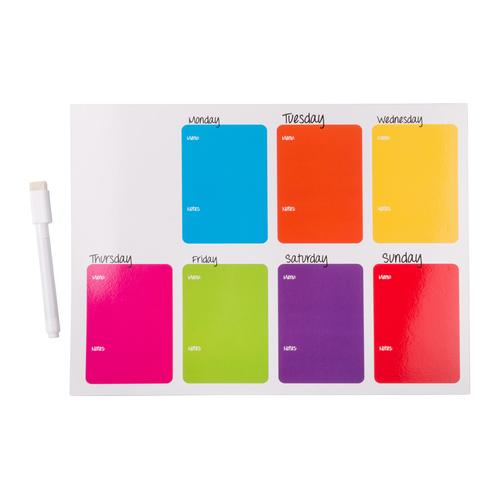 Magnet écritoire en calendrier, livré avec chifonnette