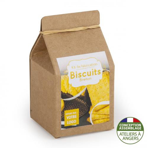 Mini coffret gastronomie biscuits version kraft