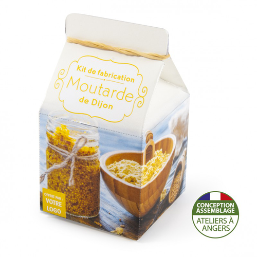 Mini coffret gastronomie moutarde de dijon version quadrichromie