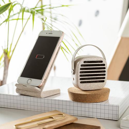 Mini enceinte Bluetooth 5.0 PYON - en fibre de blé
