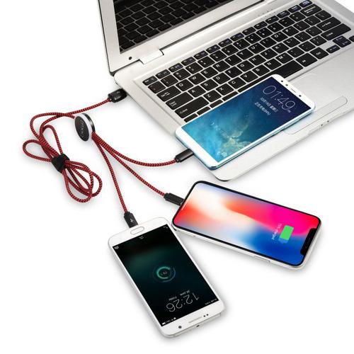 Multi câbles 3 en 1 lumineux DELUXE fonction NFC