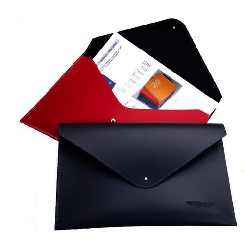 Pochette porte documents A4 en cuir recyclé
