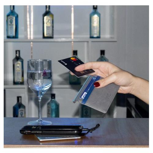 Porte cartes anti RFID avec powerbank 3 000 mAh