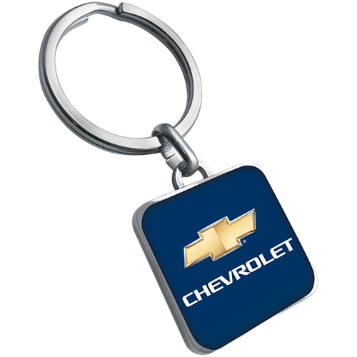 Porte clés acier brossé, quadri, offset et epoxy