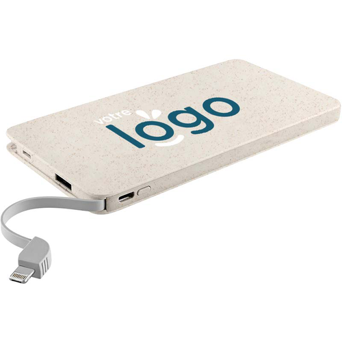 Powerbank 10000 mAh rectangle en bioplastique