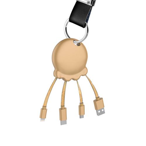 Powerbank avec multicâble et porte clés 1000 mAh