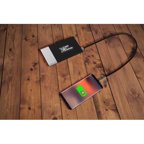 Powerbank bi-matière 5000 mAh avec logo lumineux