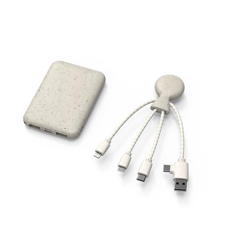 POWERPACK : Batterie 5000mAh Et Câble Multi-Connecteurs Biodégradables