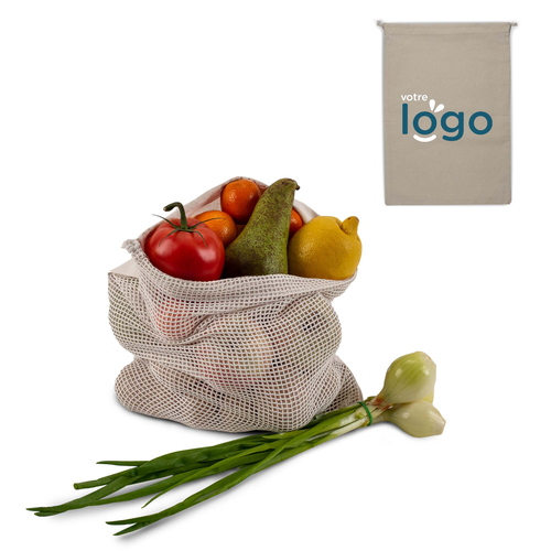 Sac filet à légumes 30x40cm - 100% coton OEKOTEX
