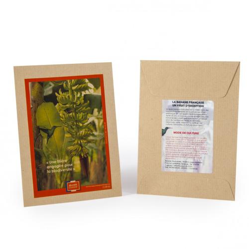 Sachet kraft personnalisé avec des graines à semer