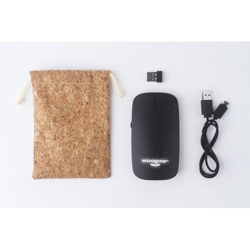 Souris sans fil et sans piles POKKET biodégradable