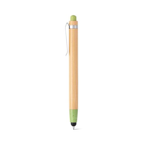 Stylo à bille bambou BENJAMIN avec stylet - attributs en fibre de blé