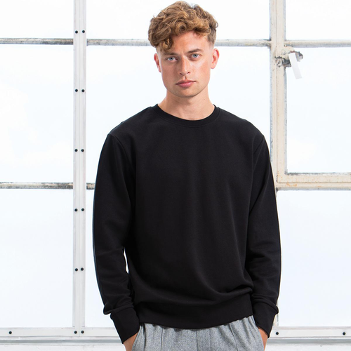 Sweat homme, 80 % en coton Bio et 20% PET