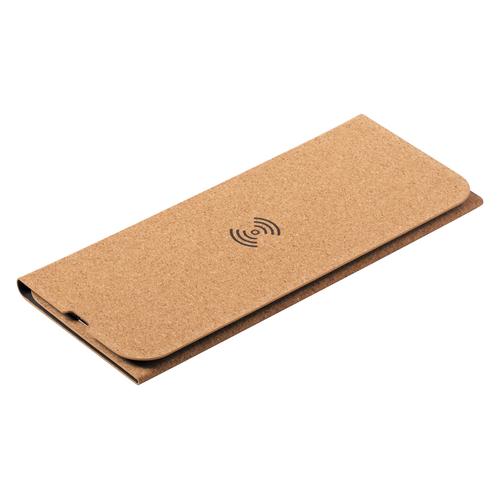 Tapis de souris en liège avec chargeur à induction - fonction support téléphone