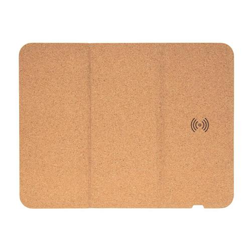 Tapis de souris en liège avec support téléphone et chargeur à induction