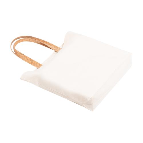 Tote bag en coton avec anses en liège naturel - 100% coton 180gr