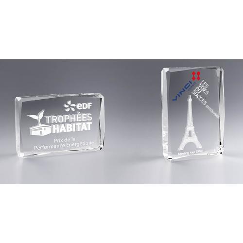Trophée rectangle facetté personnalisé